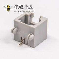 rj11连接器6p2c弯式全塑插pcb板网络模块化连接器