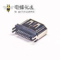 HDMI母座接头穿孔PCB180度直角PCB