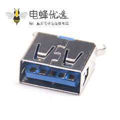 3.0a usb母座短体USB3.0A 穿孔9p