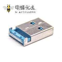 usb3.0长体公座90度接PCB