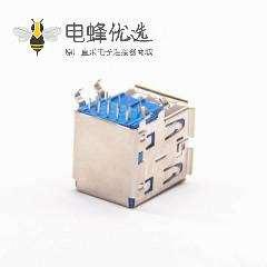 双层USB3.0母座90度直角pcb板端