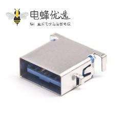 USB母座短体90度弯头9p接PCB