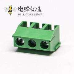 PCB接线端子绿色3排螺钉式3芯压线端子