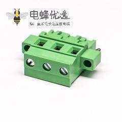 螺钉式插拔接线端子螺母锁紧式绿色压接接线直式端子