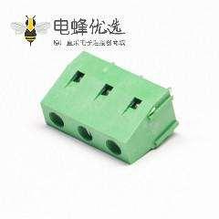绿色的接线端子直式3芯穿孔式PCB板螺钉式连接器