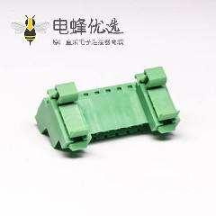 螺钉式接线端子排面板安装穿孔式10芯绿色端子座