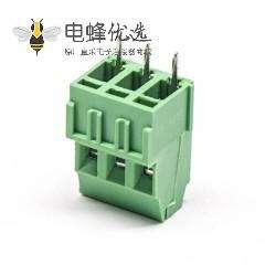绿色接线端子3芯直式接PCB板螺钉式