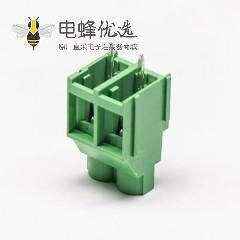 端子接线螺钉式2芯直式绿色接线端子