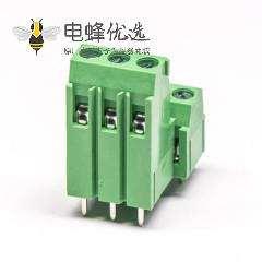 螺钉接线端子2层私心表贴插孔式绿色端子接线