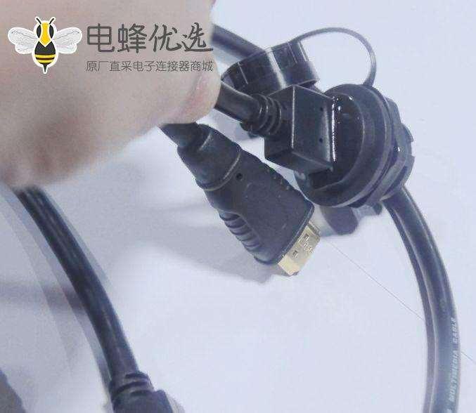 HDMI AF 防水-HDMI 公头 带硅胶软盖 连接线