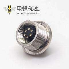 6芯防水连接器M9母头直式前锁穿墙面板安装