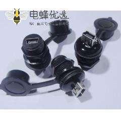 MiniUSB 5F M12-1.0 -MiniUSB 5F 防水 转接头