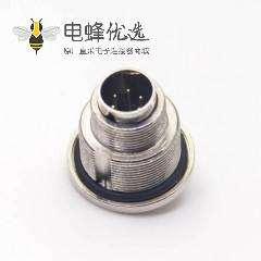 防水焊线式连接器M9公头直式焊线前锁穿墙