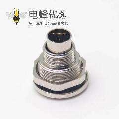 焊线式插座M9直式公头前锁穿墙焊线接面板接线