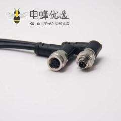 m9 尼农电缆防水接头90度4芯公转母注塑线