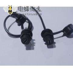 MicroUSB 5P母防水-MicroUSB 5P 公90右弯头 连接线