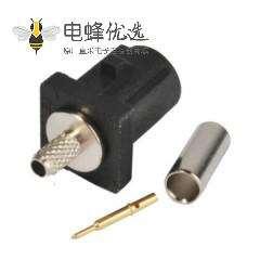 Fakra压接 Fakra A公头用黑色连接器用于RG316 RG174接线
