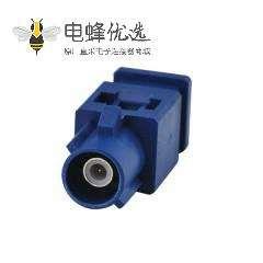 车用Fakra C公蓝色压接焊接连接器用于汽车GPS天线RG316 RG174