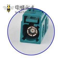 Fakra Z头母水蓝色压接焊接连接器用于RG316 RG174
