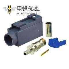 Fakra G连接器母头灰色压接焊接连接器用于RG316 RG174