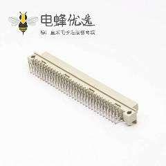 DIN形插座41612欧式 节距2.54 96芯(A+B+C)90度弯插母头插孔式接PCB板安装