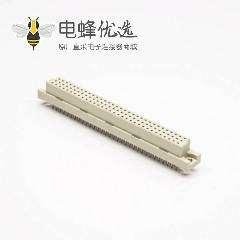 DIN41612欧式连接器插座 节距2.54 96芯(A+B+C)180度直插母头插孔式接PCB板安装