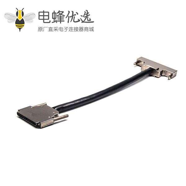 SCSI 100P连接器HPDB公转母直式插头插座螺丝锁电缆1米