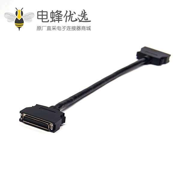 SCSI50针HPCN 直式公头转公头按键式连接器1米