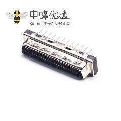 SCSI直插连接器HPDB型50芯公头插孔式PCB板安装