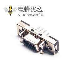 SCSI 14HPCN芯直式母头插座插板焊接连接器