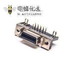 SCSI 20HPCN弯式母头插板插座焊接连接器