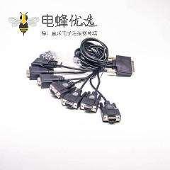 SCSI接口线1米VHDCI68芯公转8HPDB9芯母注塑成型线