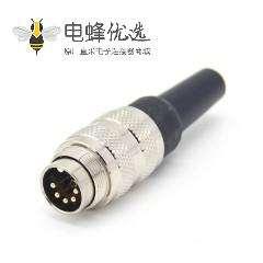 对接电缆 M16 5芯直式接线公插头