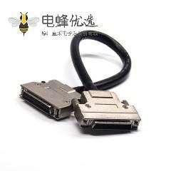 SCSI50线HPDB公头转母头螺丝锁直式接线连接器1米