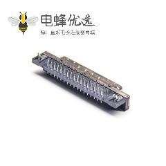 SCSI HPDB型母头68芯弯式连接器插孔式PCB板安装