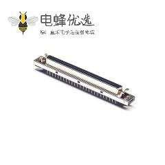 SCSI连接器HPDB型100芯直式插板母头插孔式卡钩按键安装