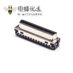 SCSI 50芯连接器HPCN型直式母头刺破式接头接线