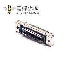 SCSI接头HPCN型36芯直式母头连接器刺破式卡钩按键安装
