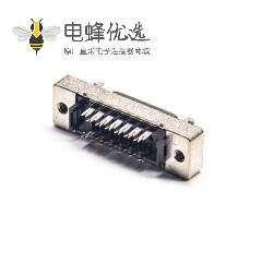 SCSI 连接器HPCN型26芯直式公头刺破式连接器卡钩按键安装