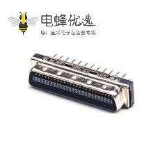 SCSI 50针HPCN型50芯直式公头插孔式PCB板安装