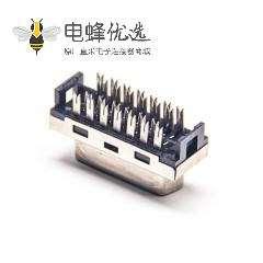 SCSI连接器HPDB26芯直式母头刺破式
