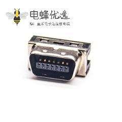 SCSI CN型插板式公头HPCN14芯直式公头