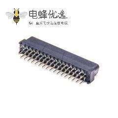 SCSI50公头HPDB直式插板插头焊接式连接器