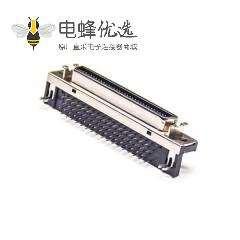 SCSI36连接器HPCN弯式母头插板插座
