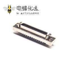 SCSI 36HPCN直式母头插板焊接式插座连接器