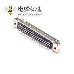 SCSI母头HPCN50芯直式插板插座连接器