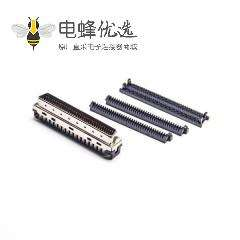 SCSI刺破式HPDB36芯直式公头刺破式插头连接器