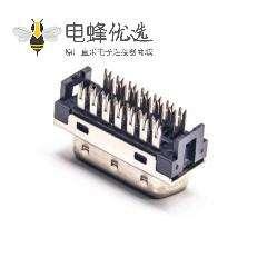 SCSI直插HPDB26芯公头刺破式插头连接器