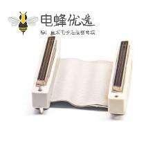50pin IDC 连接器公头转HPDB公头直式排线50厘米