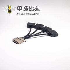 SCSI接口转接线0.2米VHDCI公头68芯锌合金转DVI型68针公头